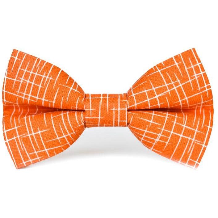 Orange Hashtag - Dog Bow Tie