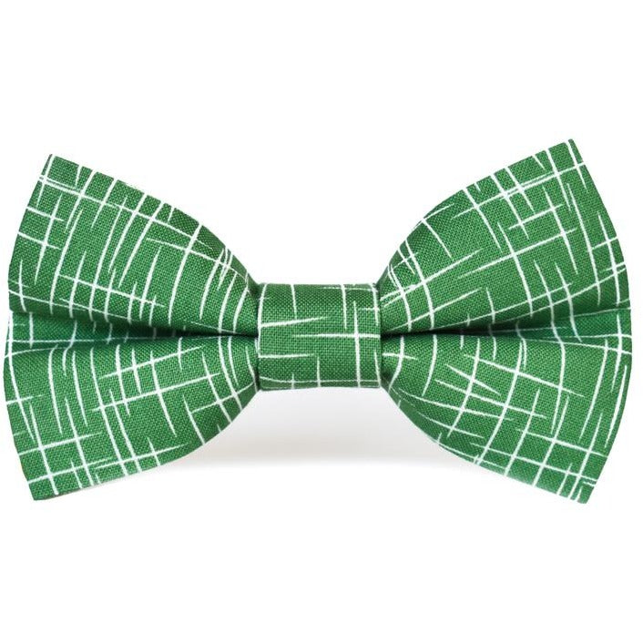 Green Hashtag - Dog Bow Tie