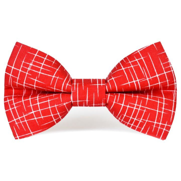 Red Hashtag - Dog Bow Tie