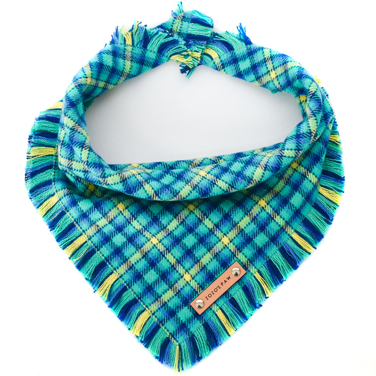 THE BLAKE - Dog Flannel Fray Bandana