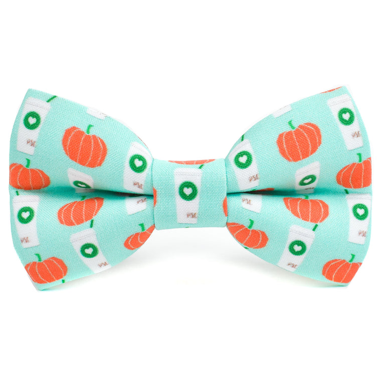 The Blue Pumpkin Spice Bow Tie