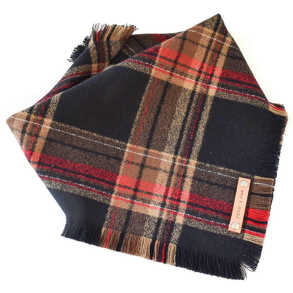 THE REAGAN - Dog Flannel Fray Bandana