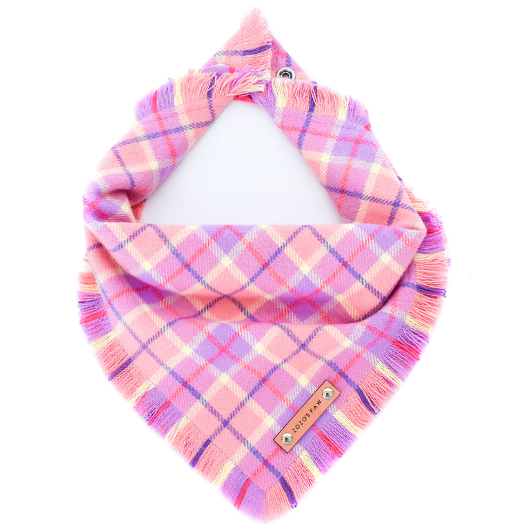 THE JOSIE - Dog Flannel Fray Bandana