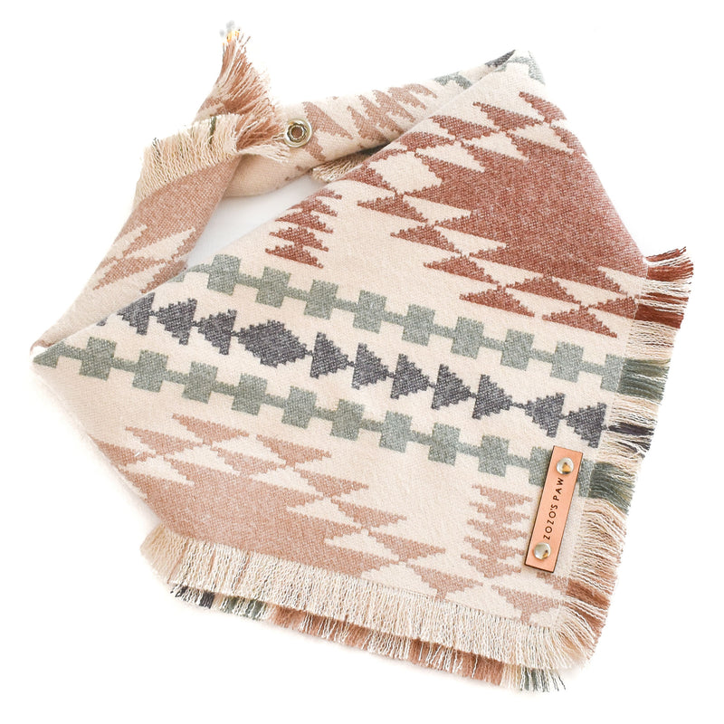 THE CHEROKEE - Dog Flannel Fray Bandana
