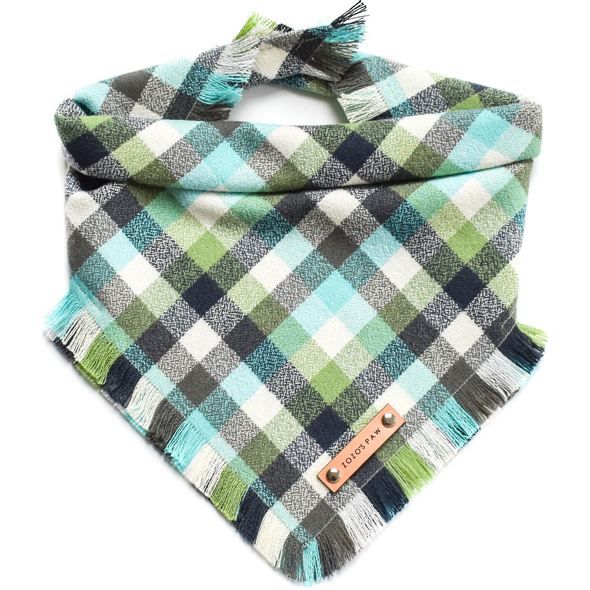 THE DINO - Dog Flannel Fray Bandana