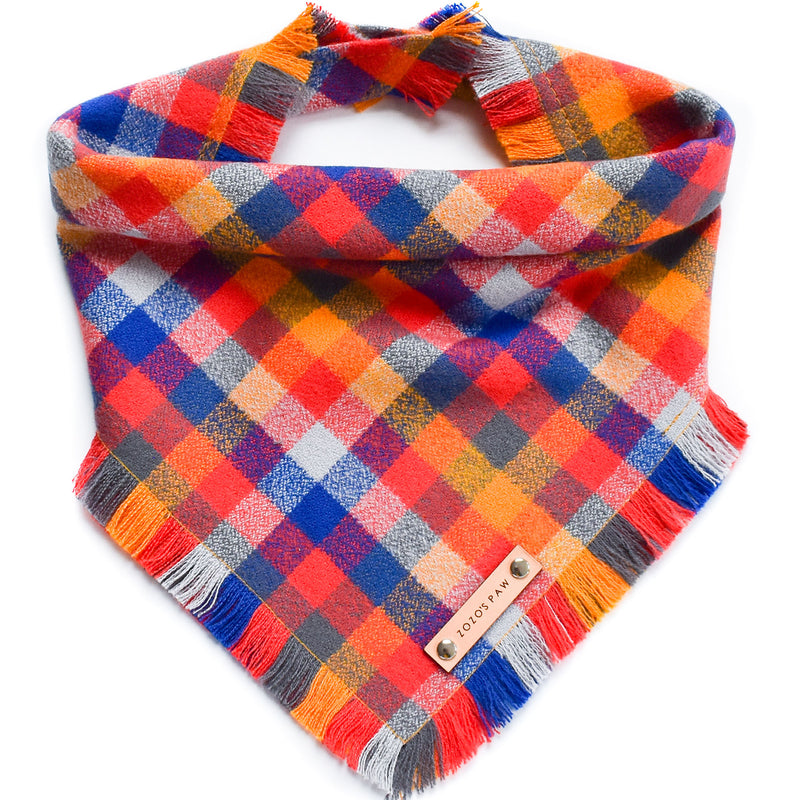THE OLYMPIA - Dog Flannel Fray Bandana