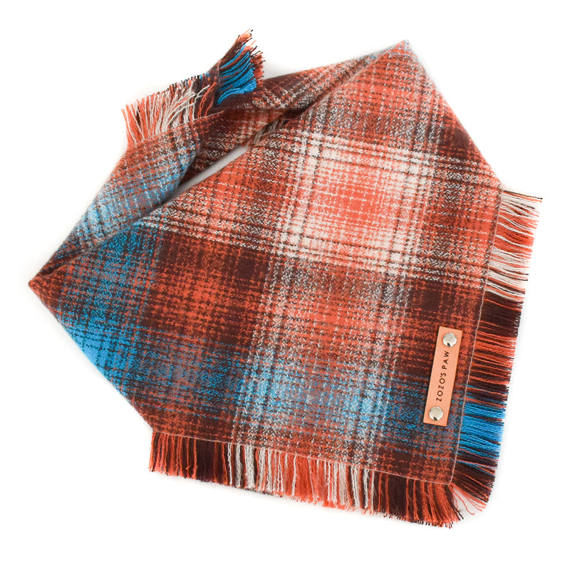THE SIMON - Dog Flannel Fray Bandana