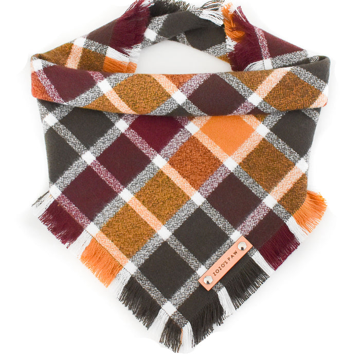 THE MADDOX - Dog Flannel Fray Bandana