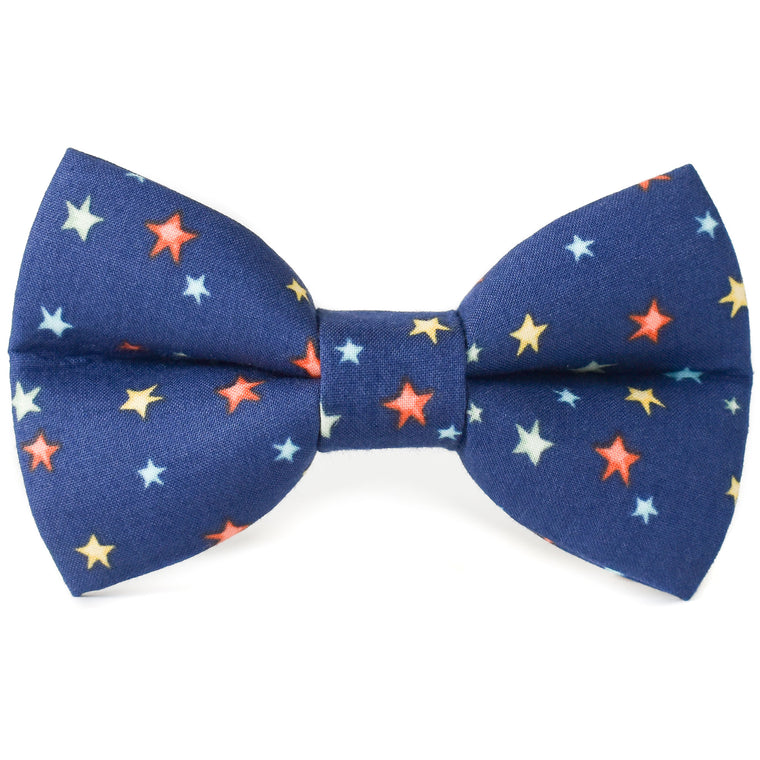 Midnight Stars Dog Bow Tie