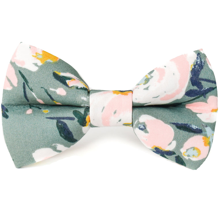 Take Center Sage Floral Dog Bow Tie