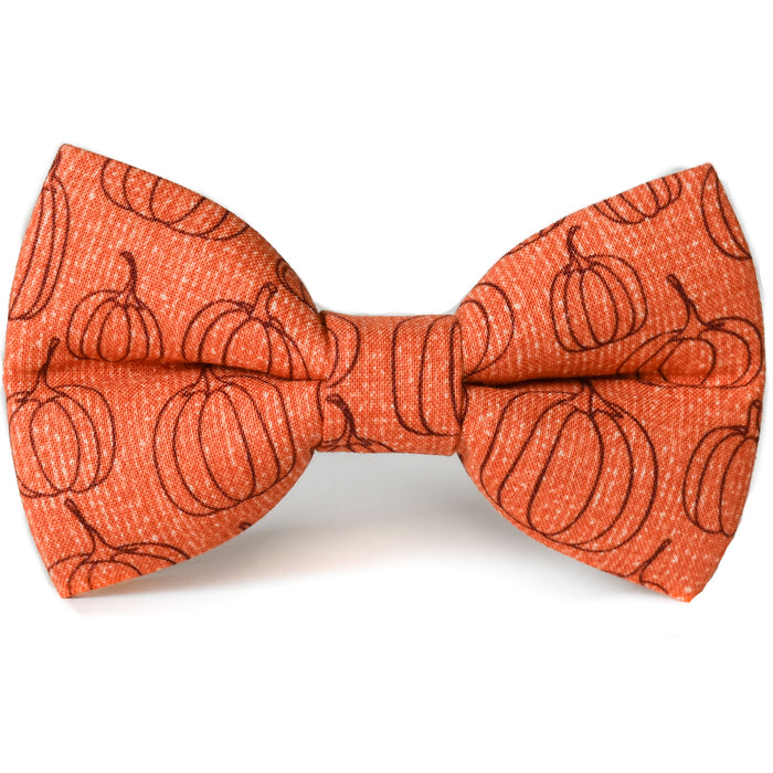Pumpkin Harvest Dog Bow Tie