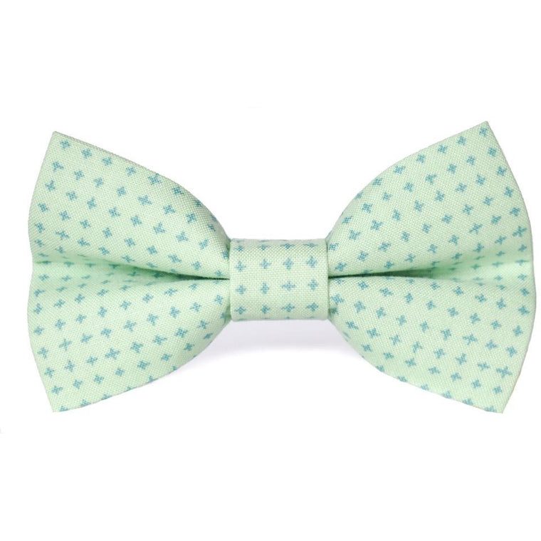 MINT CROSSHATCH - Dog Bow Tie