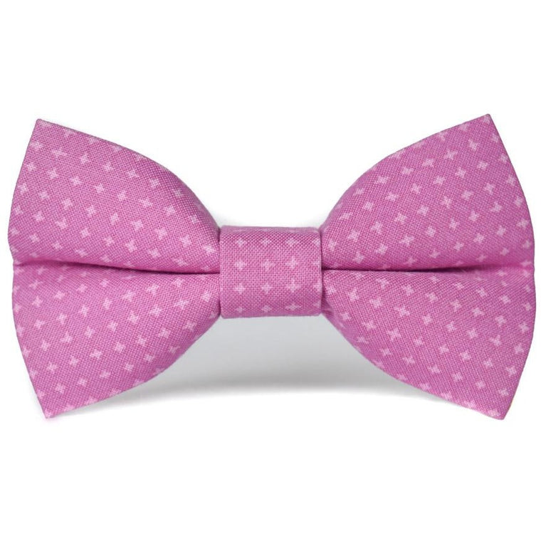 PURPLE CROSSHATCH - Dog Bow Tie