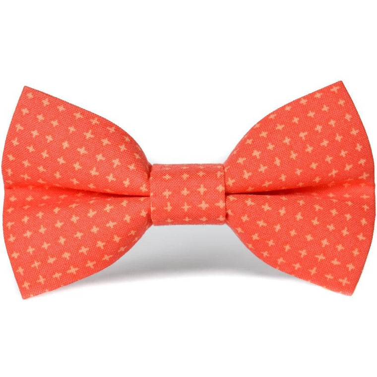 ORANGE CROSSHATCH - Dog Bow Tie