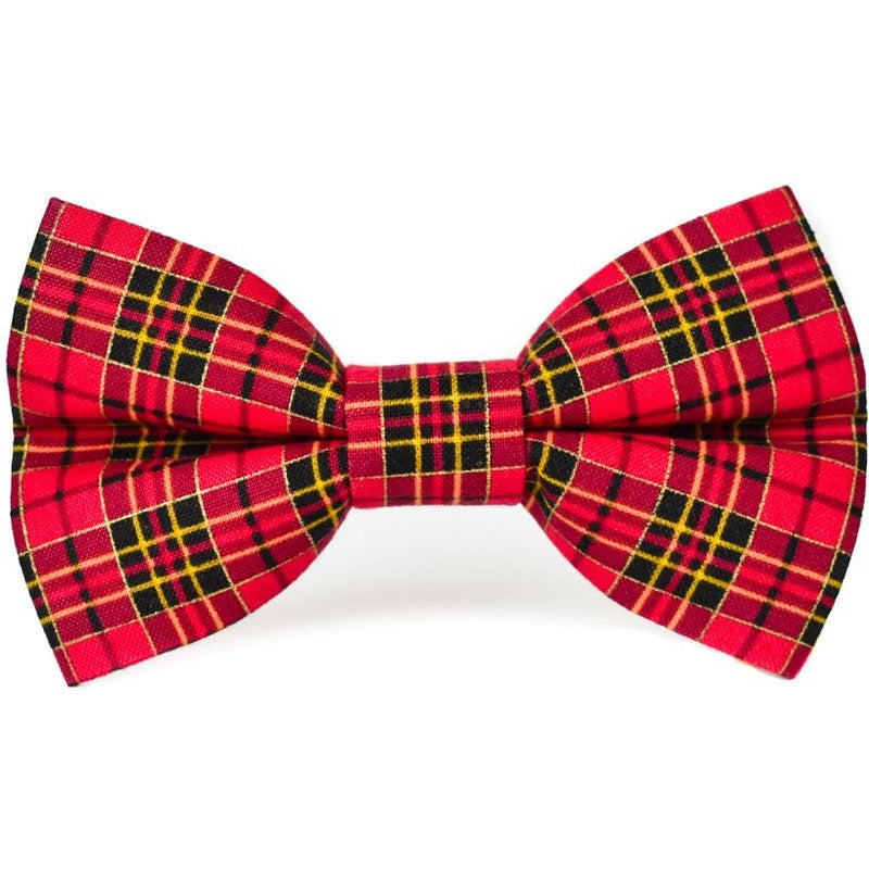 UNIVERSITY RED PLAID - Dog Bow Tie