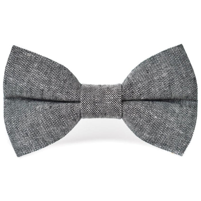 CLASSIC BLACK LINEN - Dog Bow Tie