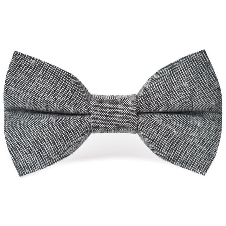 Black Linen - Dog Bow Tie