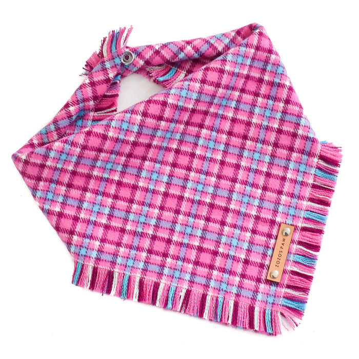 THE LILY - Dog Flannel Fray Bandana
