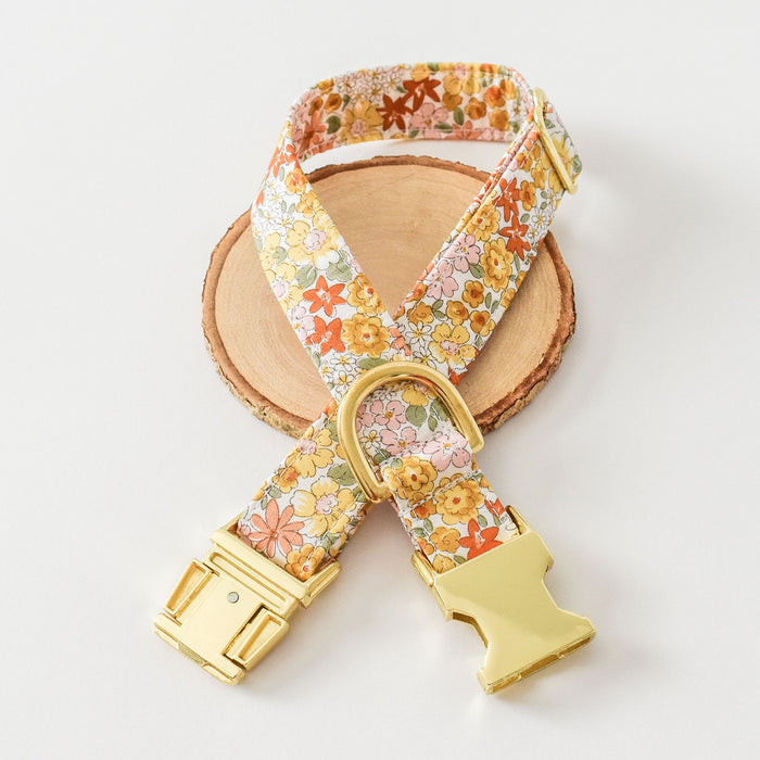 SUNSET MEADOW DOG COLLAR AND BOW TIE SET
