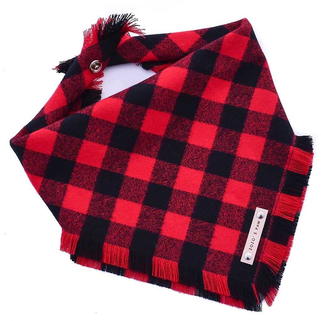 THE TIMMY 2.0 - Dog Flannel Fray Bandana