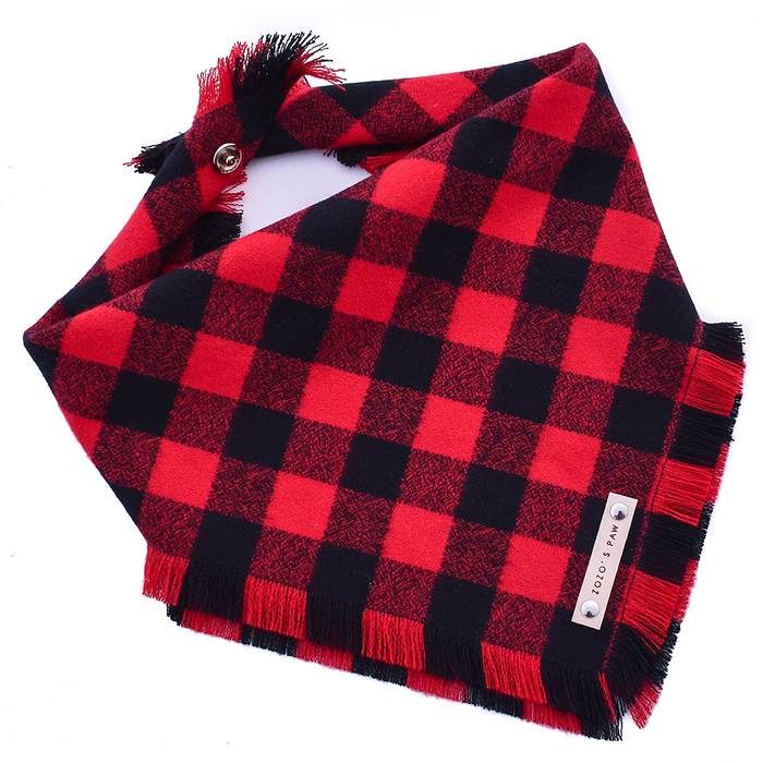 THE TIMMY - Dog Flannel Fray Bandana