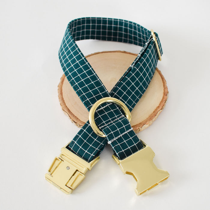 NOTABLE NAVY GRID DOG COLLAR