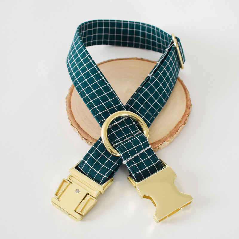NOTABLE NAVY DOG COLLAR AND BOW TIE SET