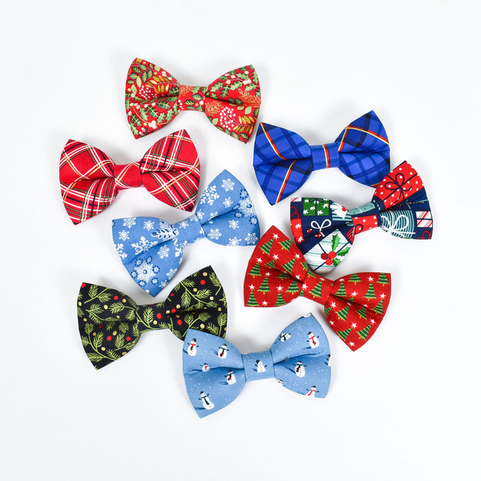 Holiday Pine Dog Bow Tie