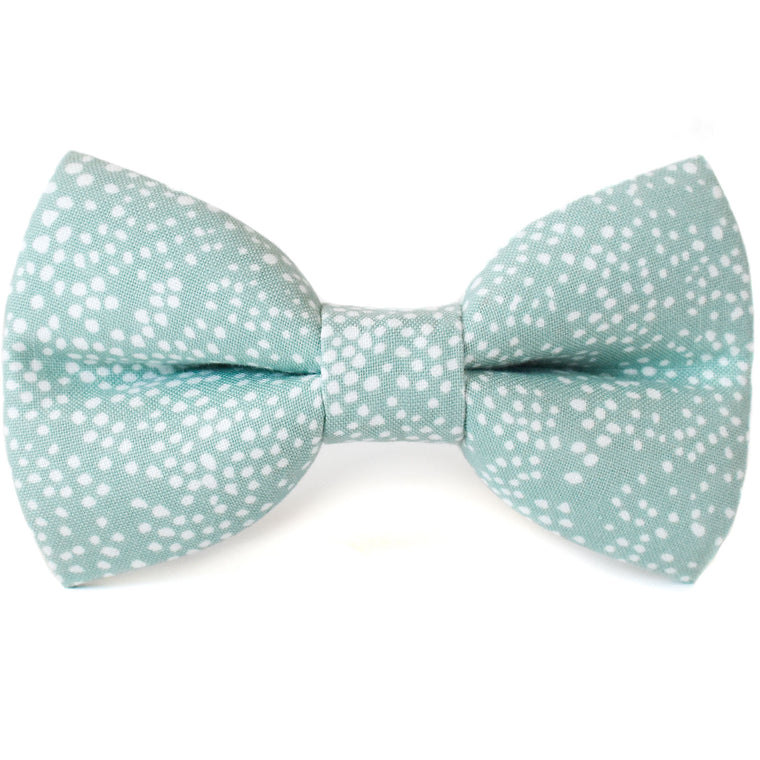 Mint Bubbly Dog Bow Tie