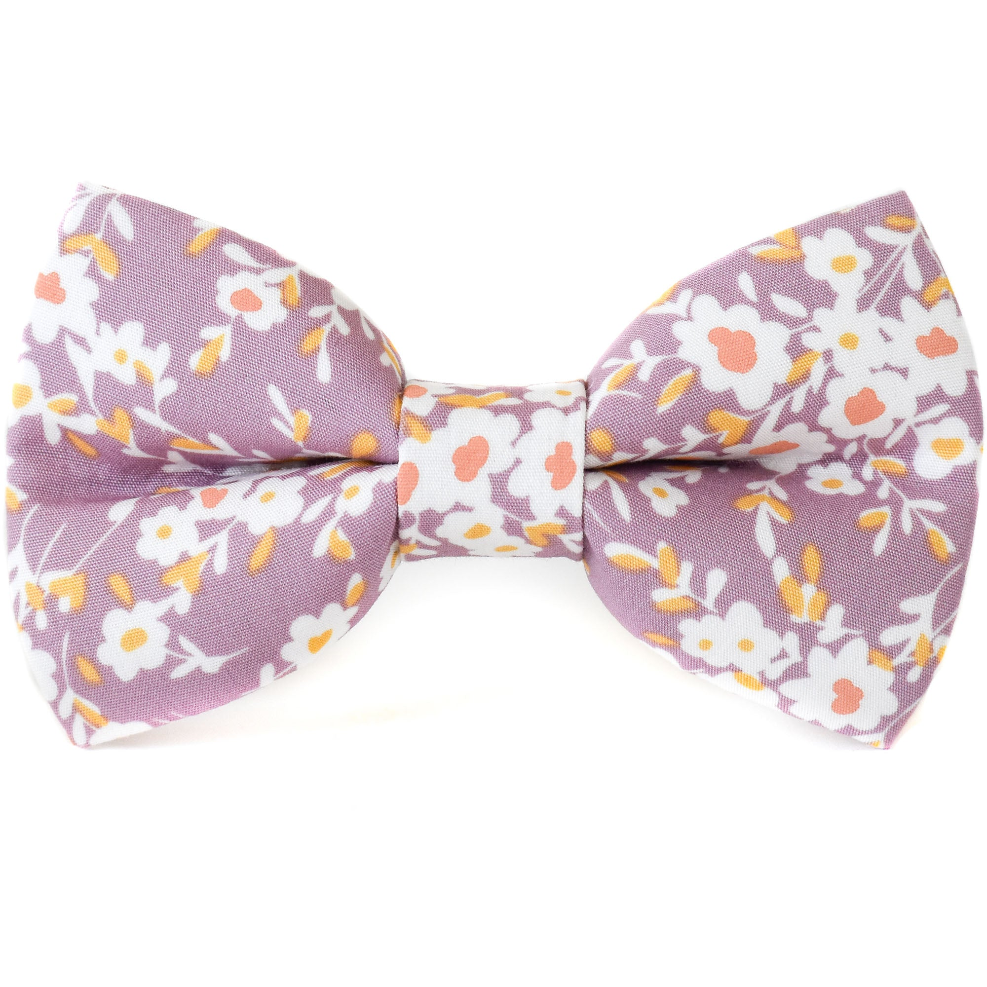Lavender Love Floral Dog Bow Tie
