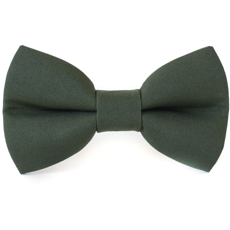 Pine Green Dog Bow Tie
