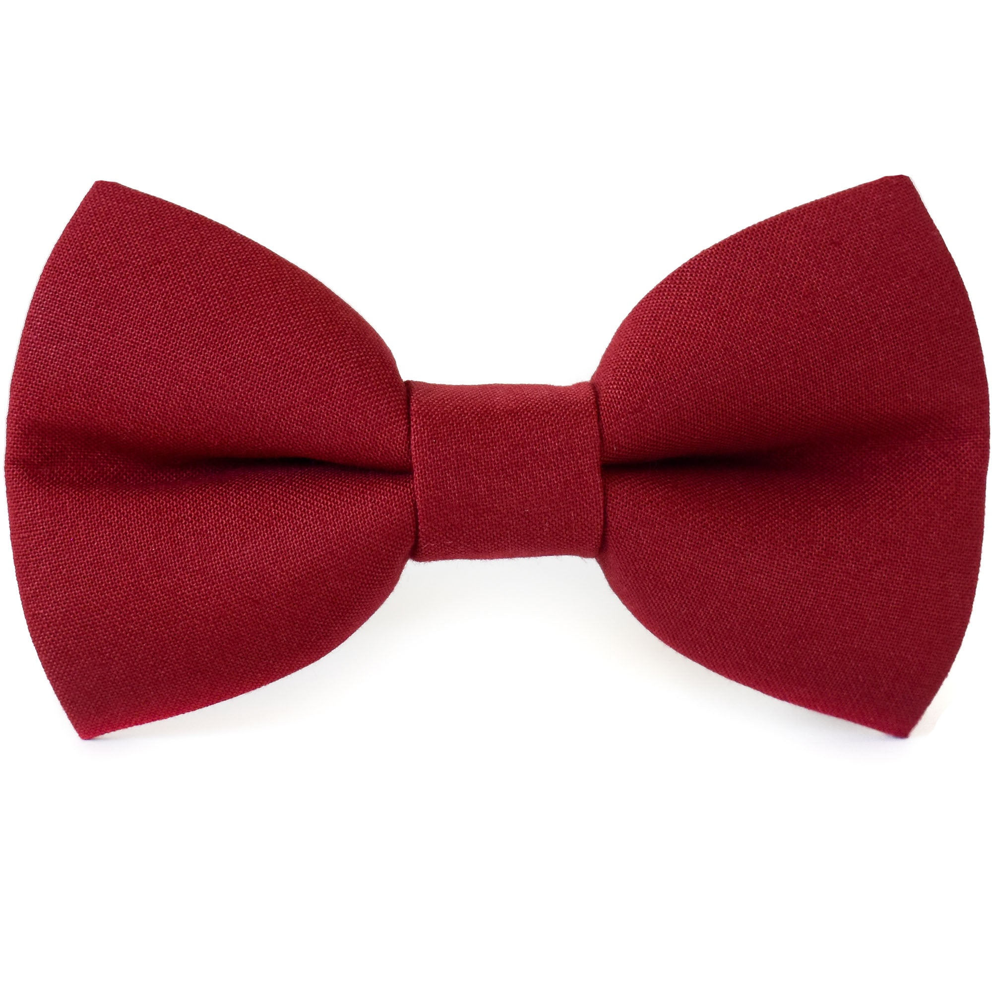 Wine Red Dog Bow Tie