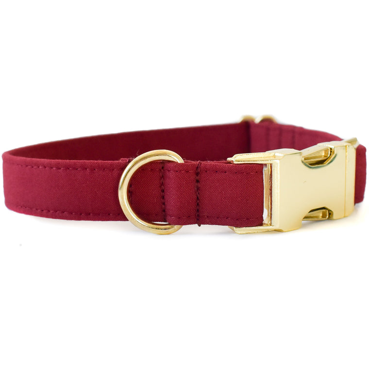 WINE RED DOG COLLAR