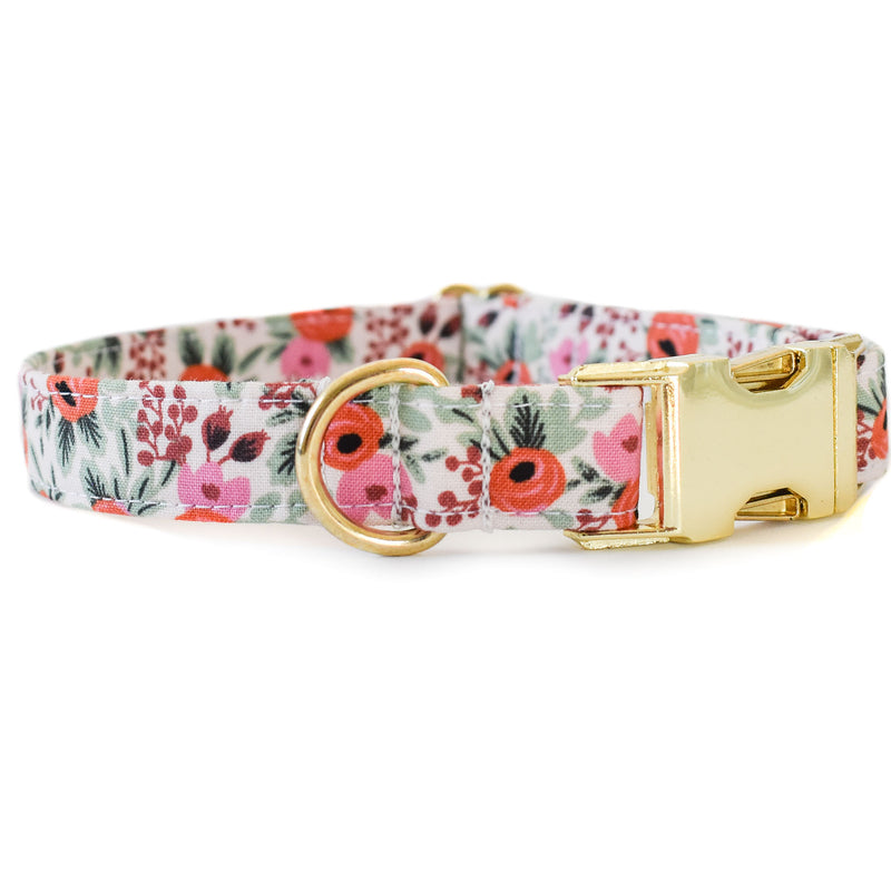 BERRY BLOSSOMS DOG COLLAR