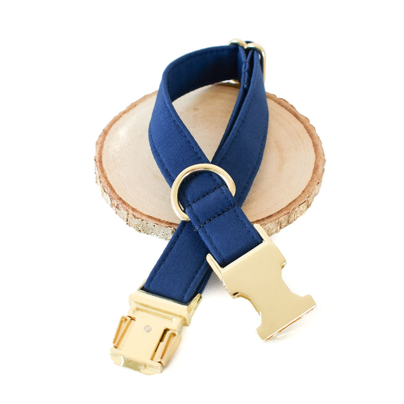 INDIGO DOG COLLAR AND BOW TIE SET