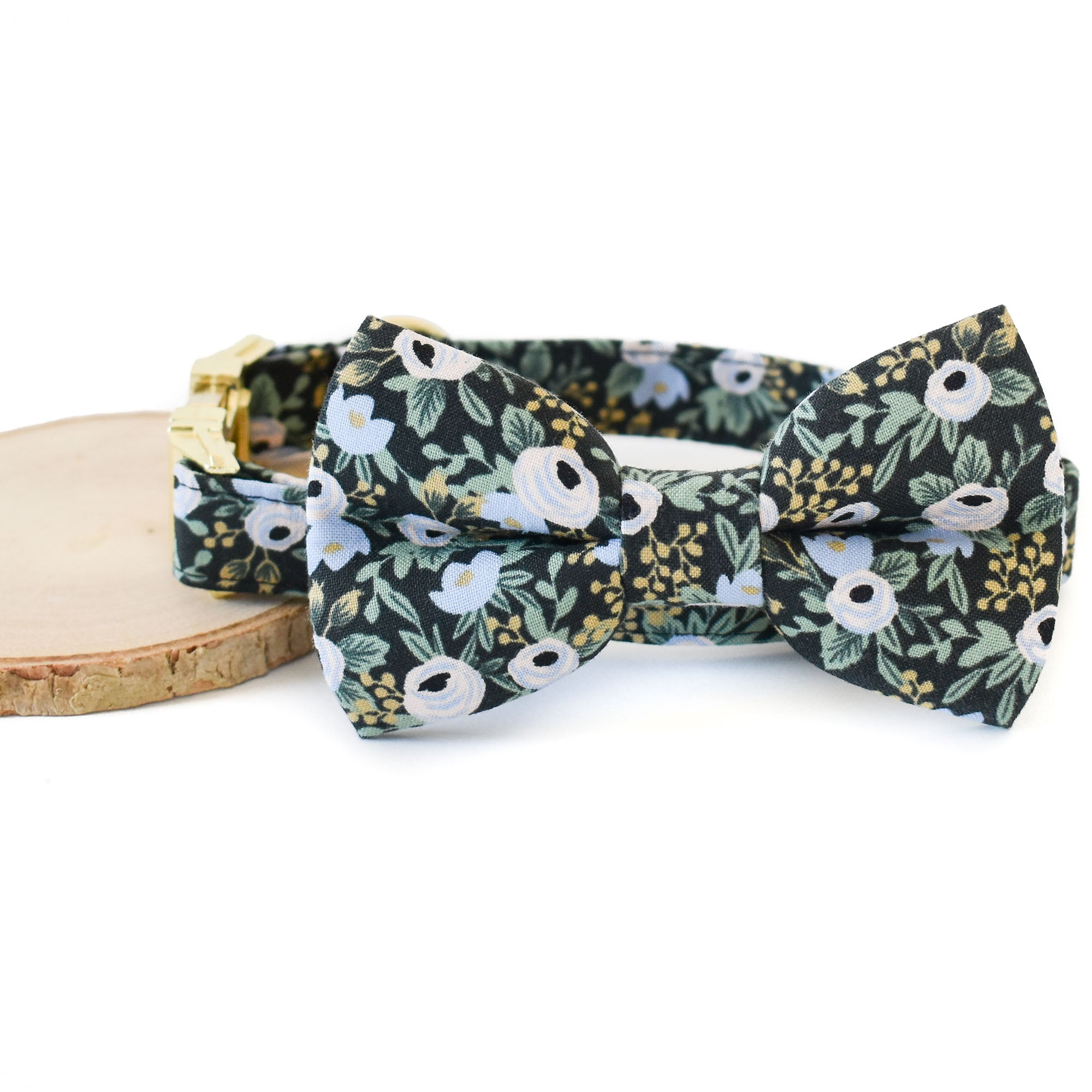 LONDON FLORAL DOG COLLAR AND BOW TIE SET