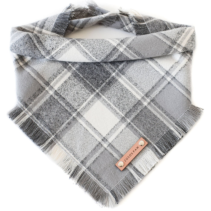 THE QUENBY - Dog Flannel Fray Bandana
