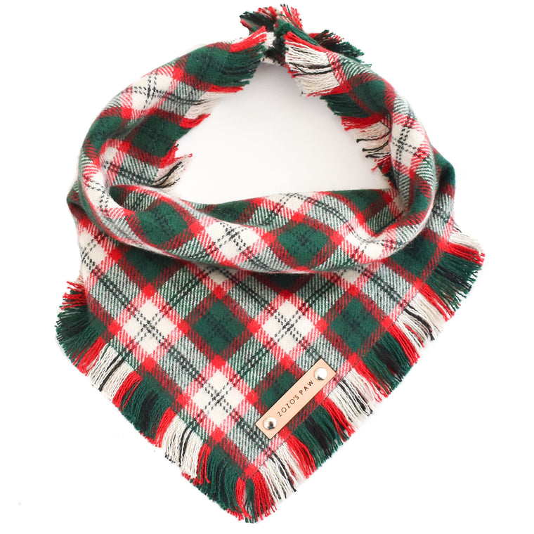 THE NOEL - Dog Flannel Fray Bandana