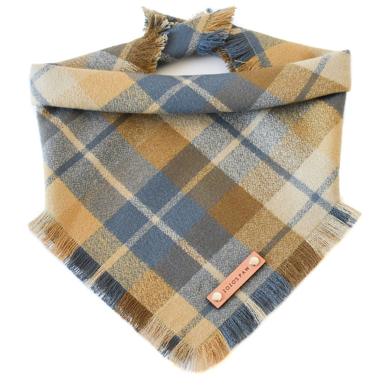 THE JASPER - Dog Flannel Fray Bandana