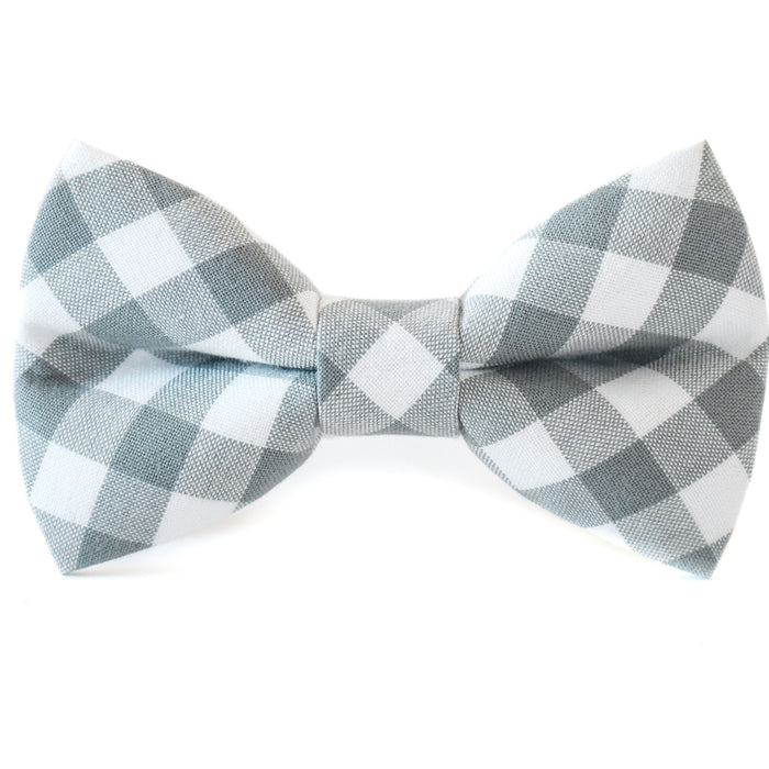 Shale Check Dog Bow Tie