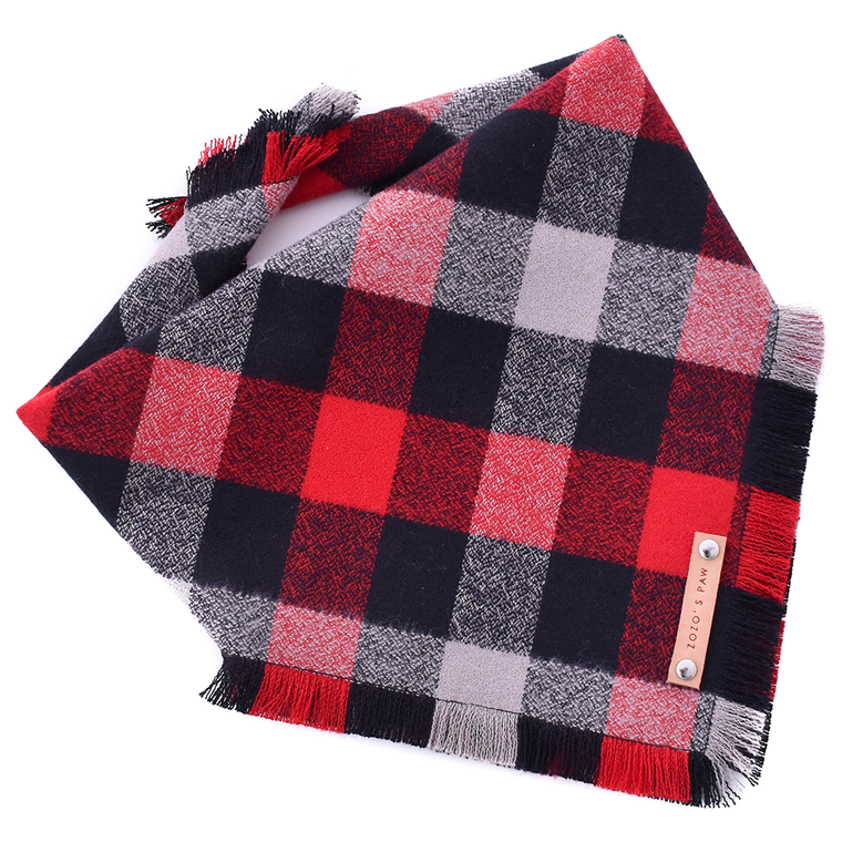 THE MAVERICK - Dog Flannel Fray Bandana