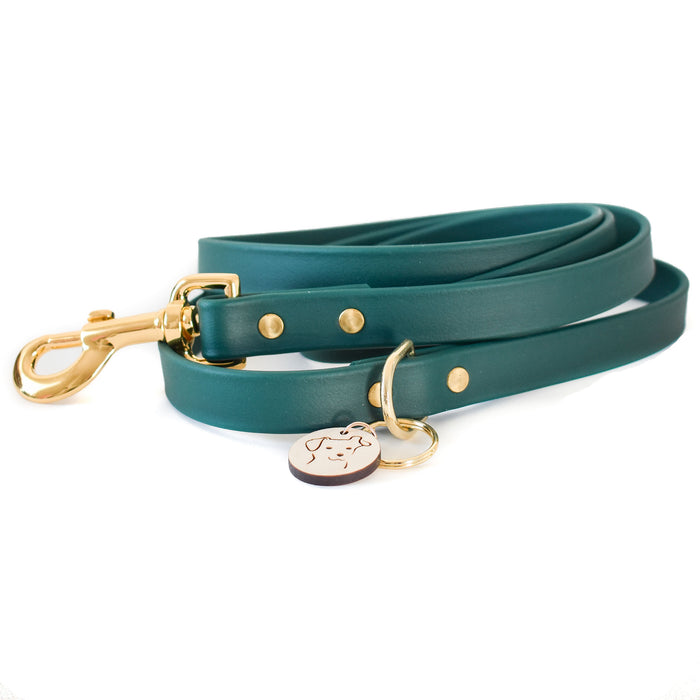 Evergreen Faux Leather Leash