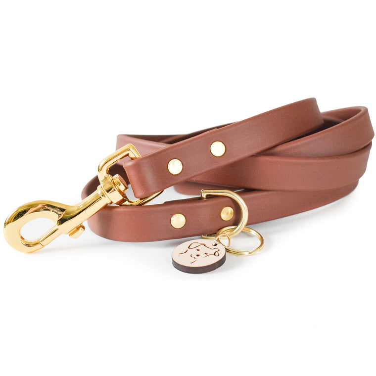 Classic Brown Faux Leather Leash