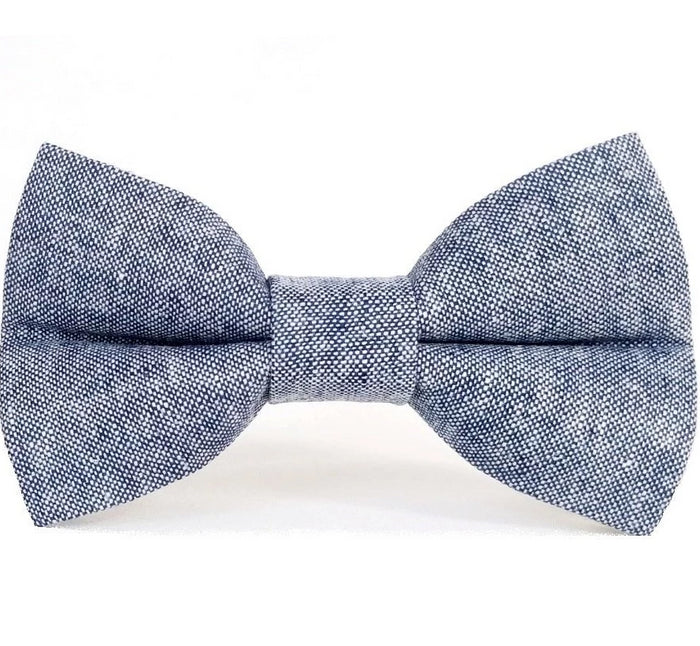 ZoZo's Paw - Denim Blues Dog Bow Tie