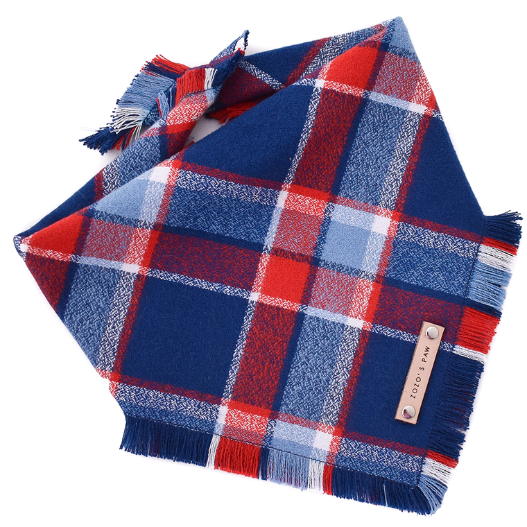 THE FINLEY - Dog Flannel Fray Bandana
