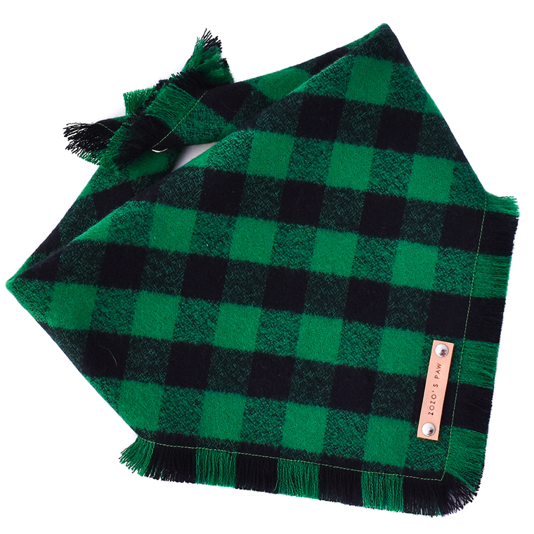 THE HUNTER - Dog Flannel Fray Bandana