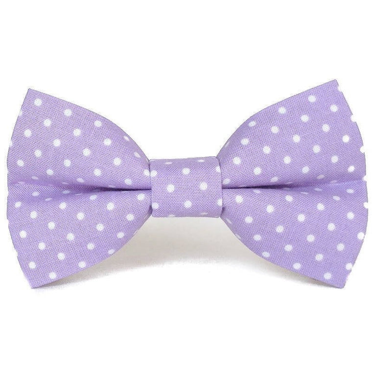Lavender Polka Dot - Dog Bow Tie