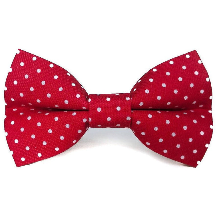 Red Polka Dots - Dog Bow Tie