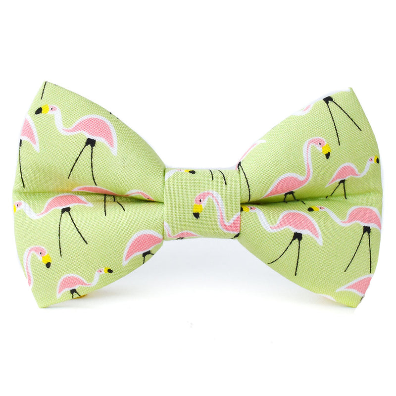 The Jo Flamingo Dog Bow Tie