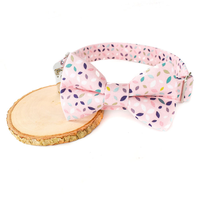 THE EMILIA DOG COLLAR AND BOW TIE SET